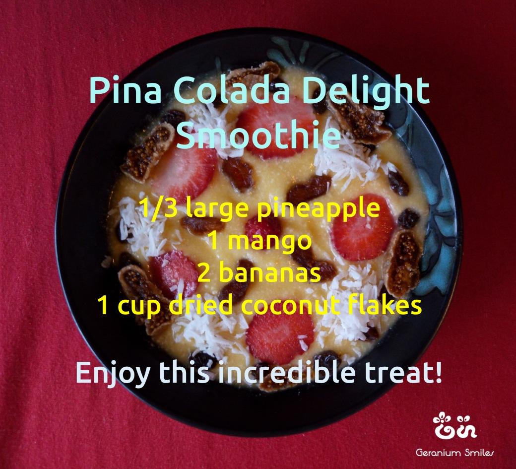 pina colada delight soothie